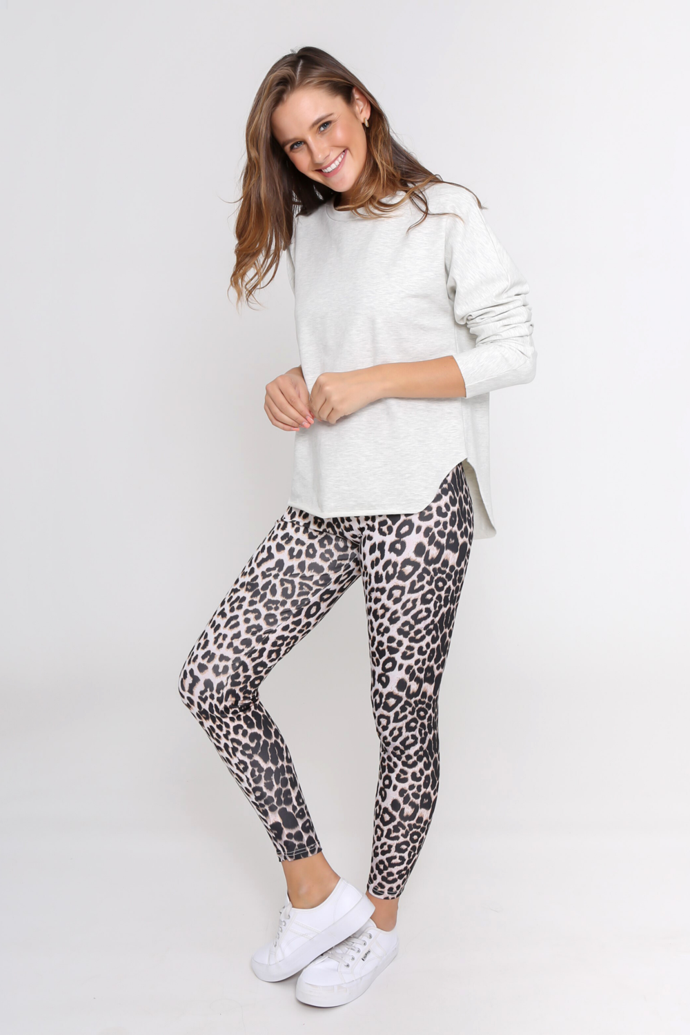 Hutton Leggings - Grey Leopard