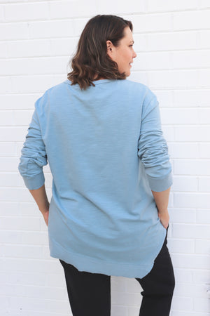 CURVE Newhaven Sweater - Duck Egg Blue