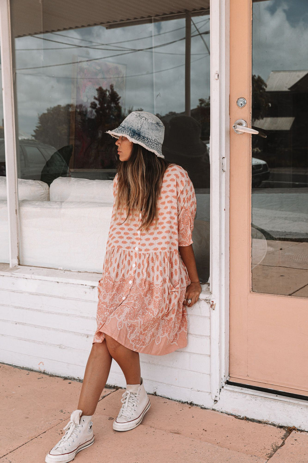 Sundaze Tunic Dress - Peach