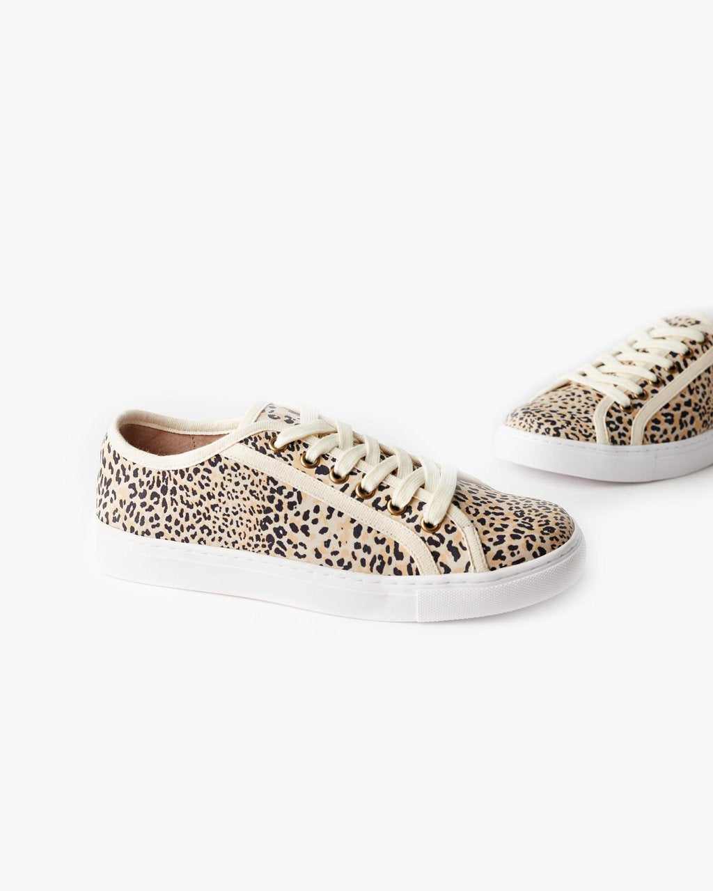 Hunter Leather Sneaker - Honey Leopard