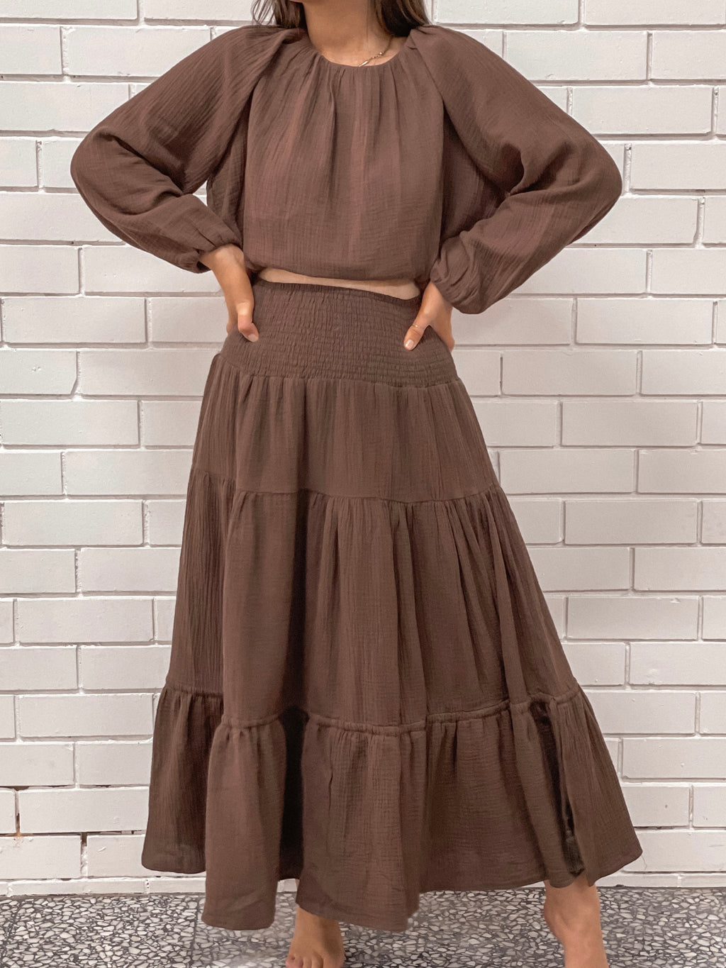 Chloe Skirt - Chocolate