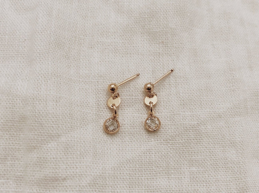 Gem and Coin Studs - Gold
