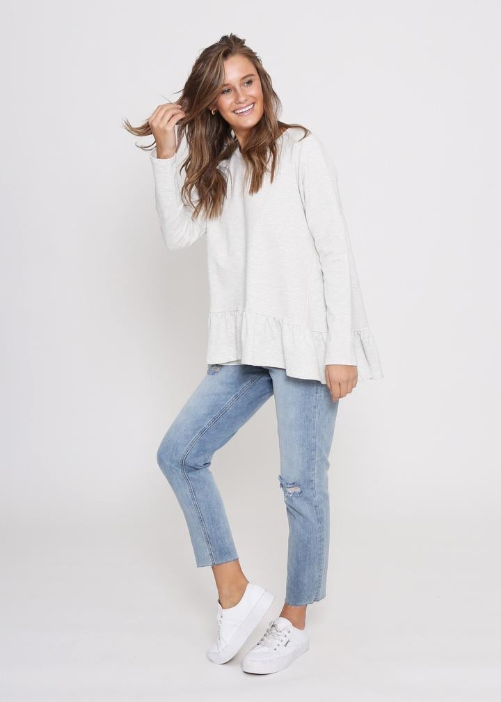 Amy Frill Sweater - Light Grey