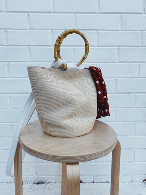 Hérmanos Bucket bag Natural