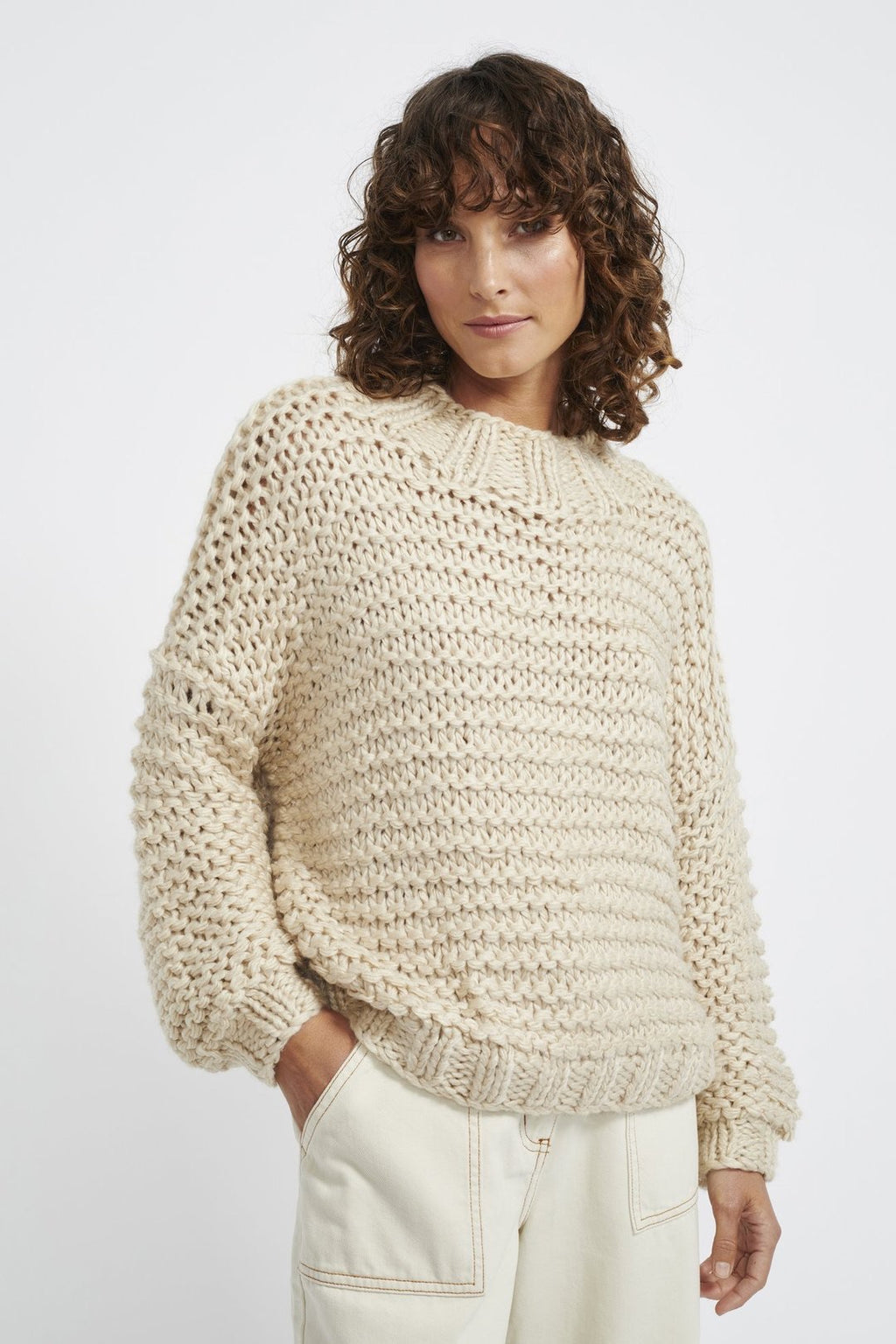 Tempo Chunky Knit Jumper - Natural