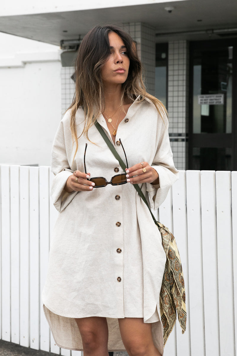 Bowie Shirt Dress - Natural