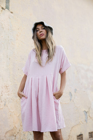 Lola Shift Dress - Pink
