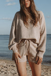 Luna Knit Top - Beige