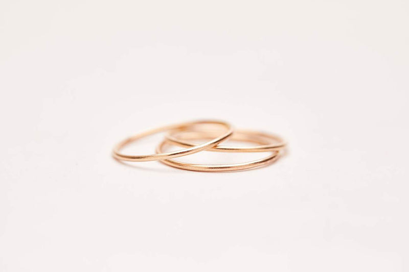 Smooth Stacking Ring - Yellow Gold