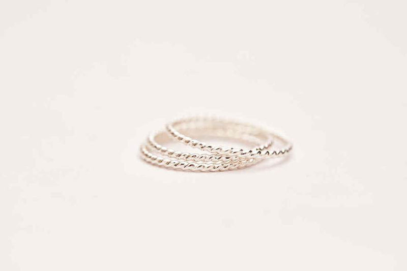 Twisted Stacking Ring - Sterling Silver