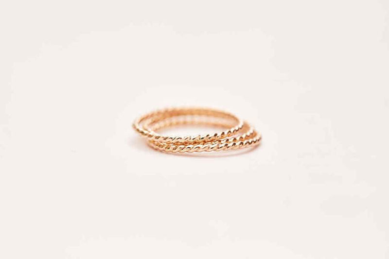 Twisted Stacking Ring - Yellow Gold