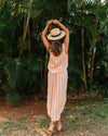 Tulum Skirt - Peach Stripe
