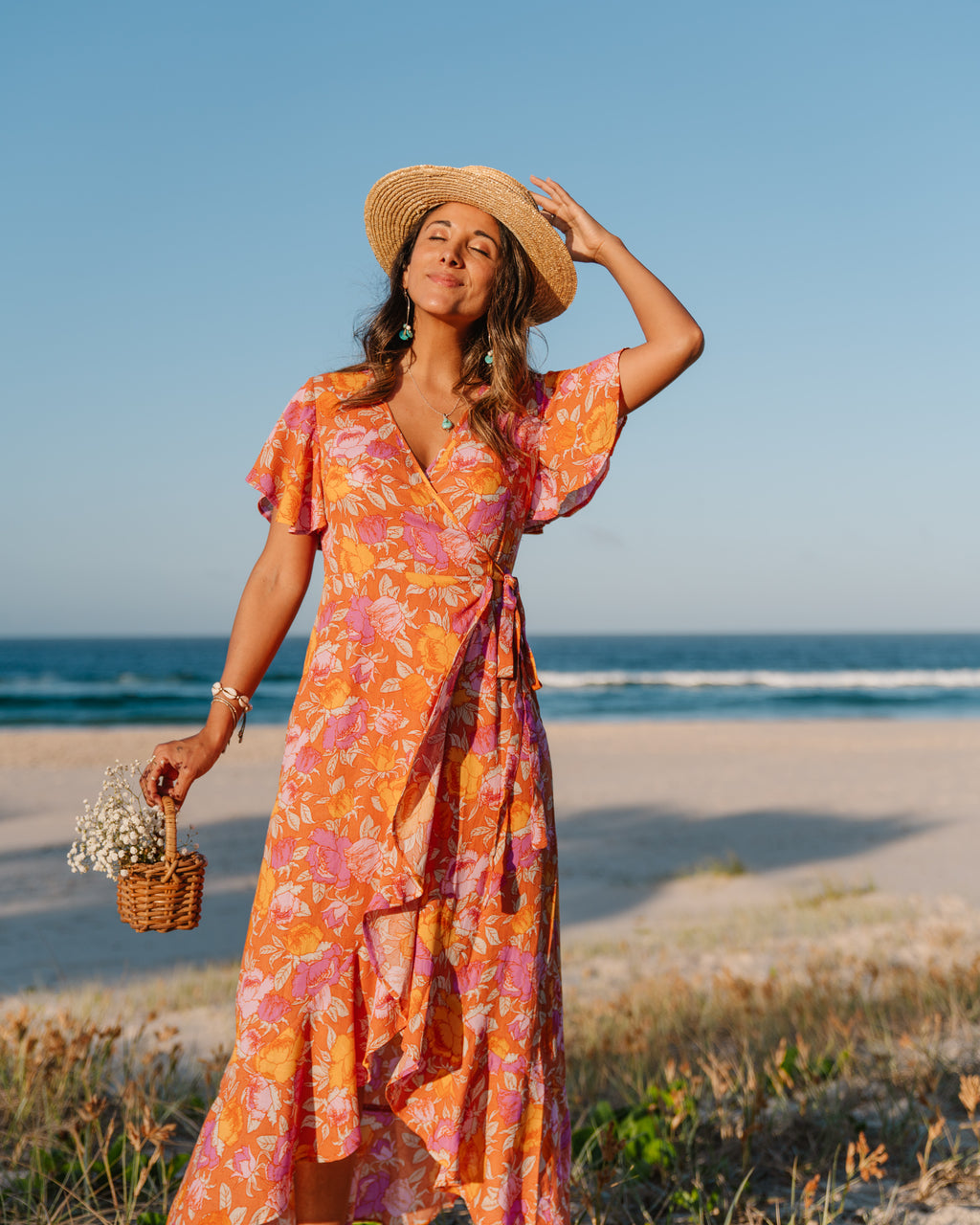 Josie Maxi Dress - Sunset Floral