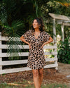 River Wrap Dress - Leopard Print