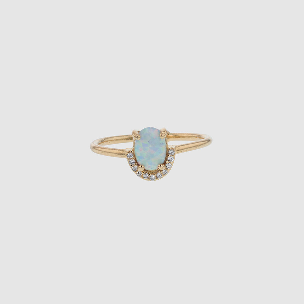 White Opal Crystal Ring - Joile & deen