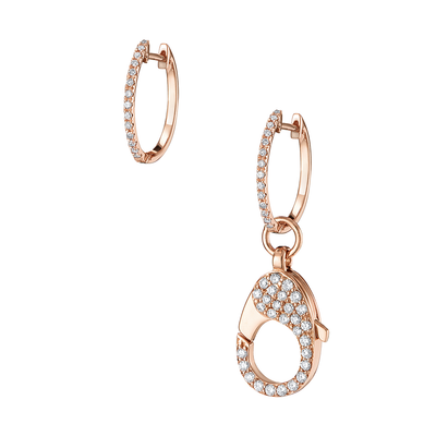 18ct clasp earrings