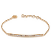 Gold & Diamond Plate Bracelet