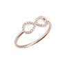 Gold & Diamond Infinity Symbol Stack Ring