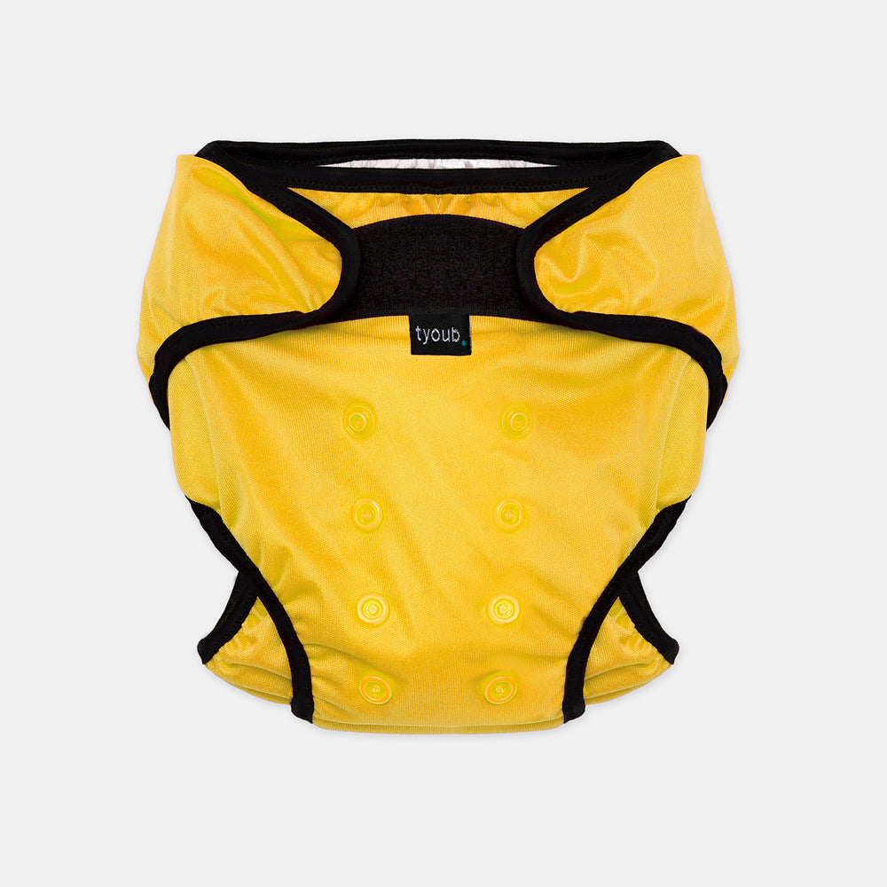 Reusable Swim Nappy + Zip Wet Bag in Yellow