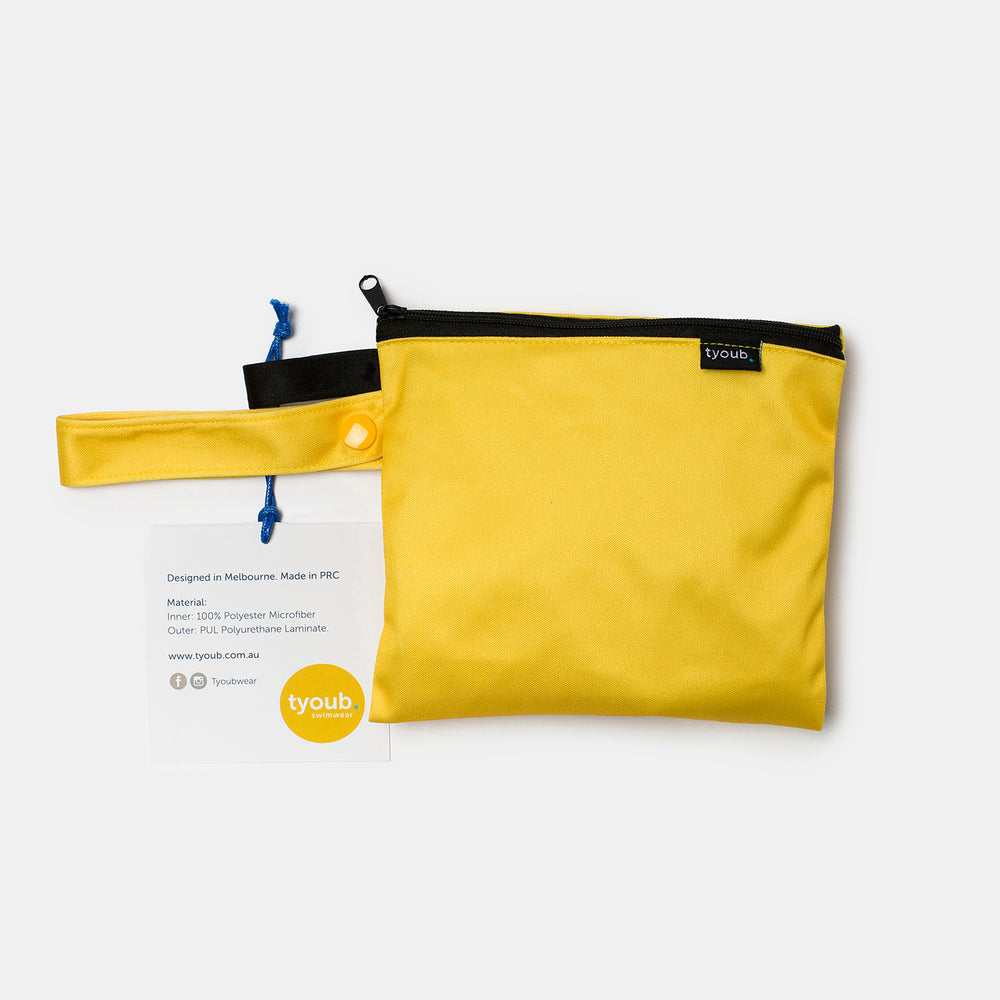 yellow wet bag back