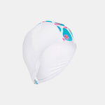 Junior Child Swim Cap - White & Pears Print