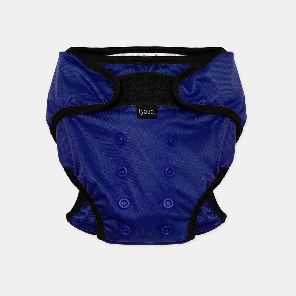 Baby & Toddler, Reusable Swim Nappy + Wet Bag - Blue front view