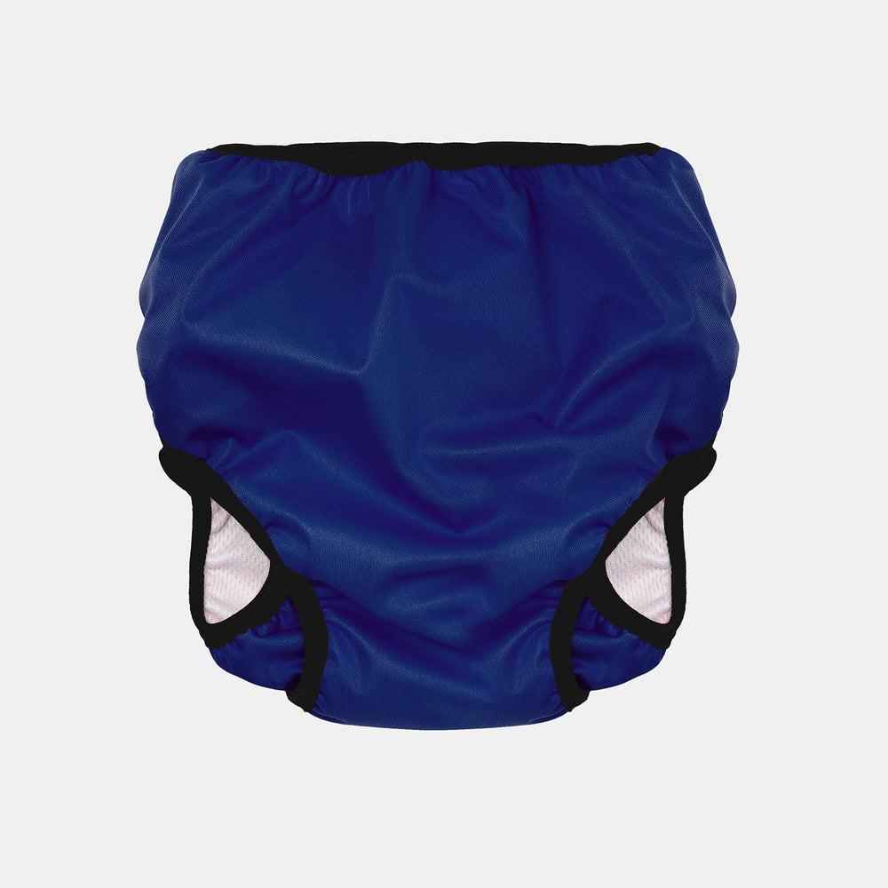 Baby & Toddler, Reusable Swim Nappy + Wet Bag - Blue back view