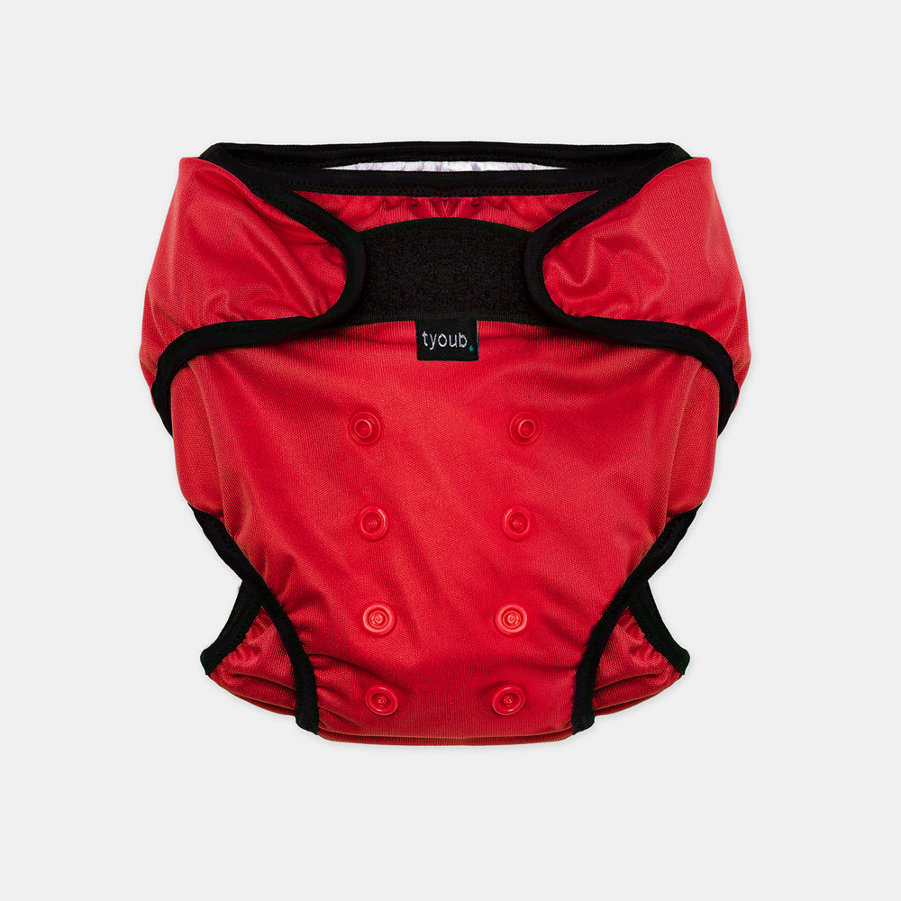 Baby & Toddler, Reusable Swim Nappy + Wet Bag - Red front