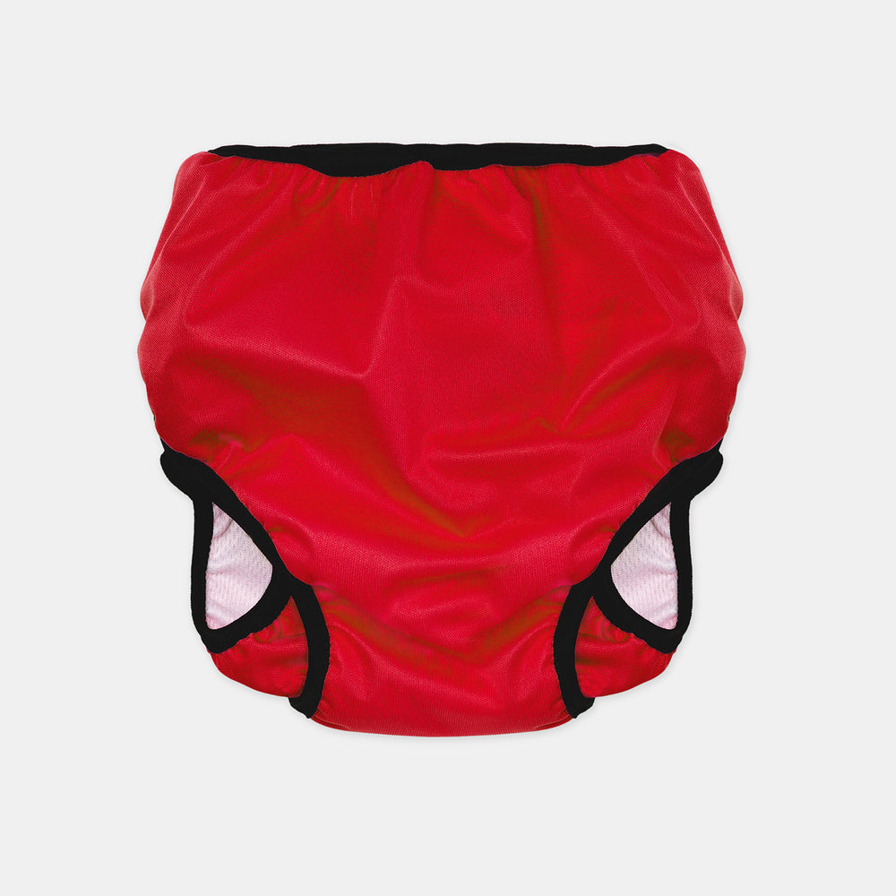Reusable Swim Nappy + Zip Wet Bag in Red