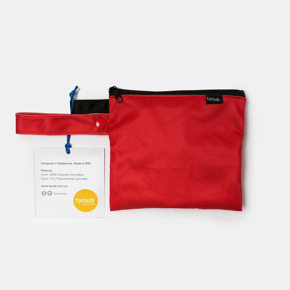 red wet bag back