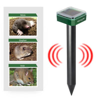 Solar Powered Mole and Gopher Repellent 2 Pack