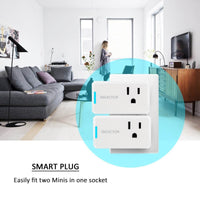 ISELECTOR Mini Smart Plug 2-Pack, Wi-Fi