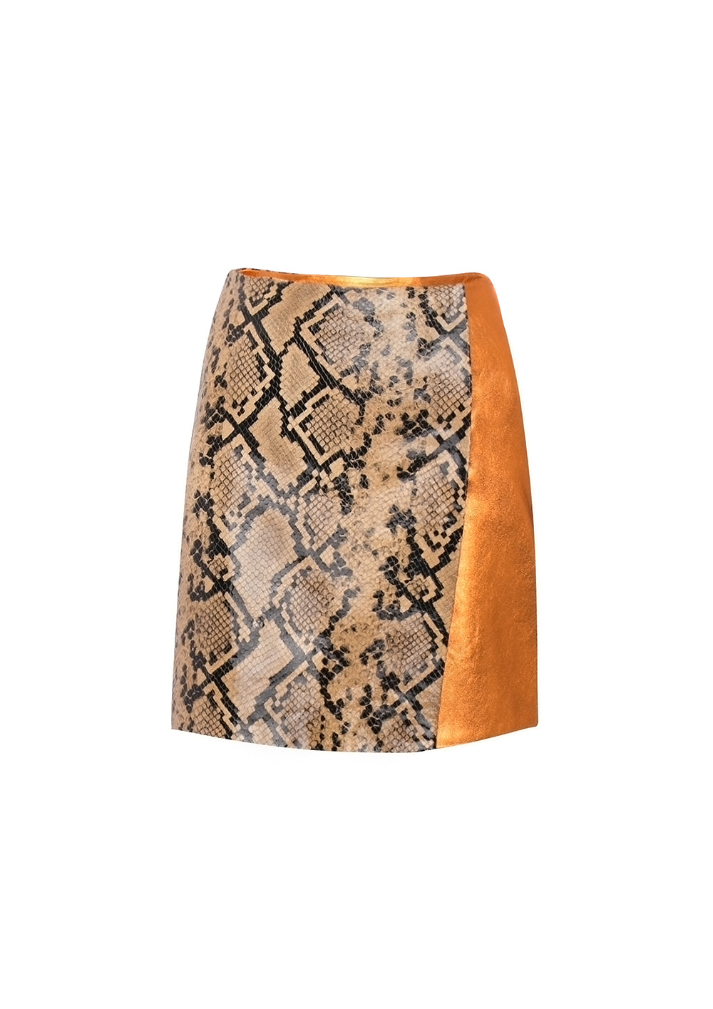 Gina Mini Skirt Copper Leather