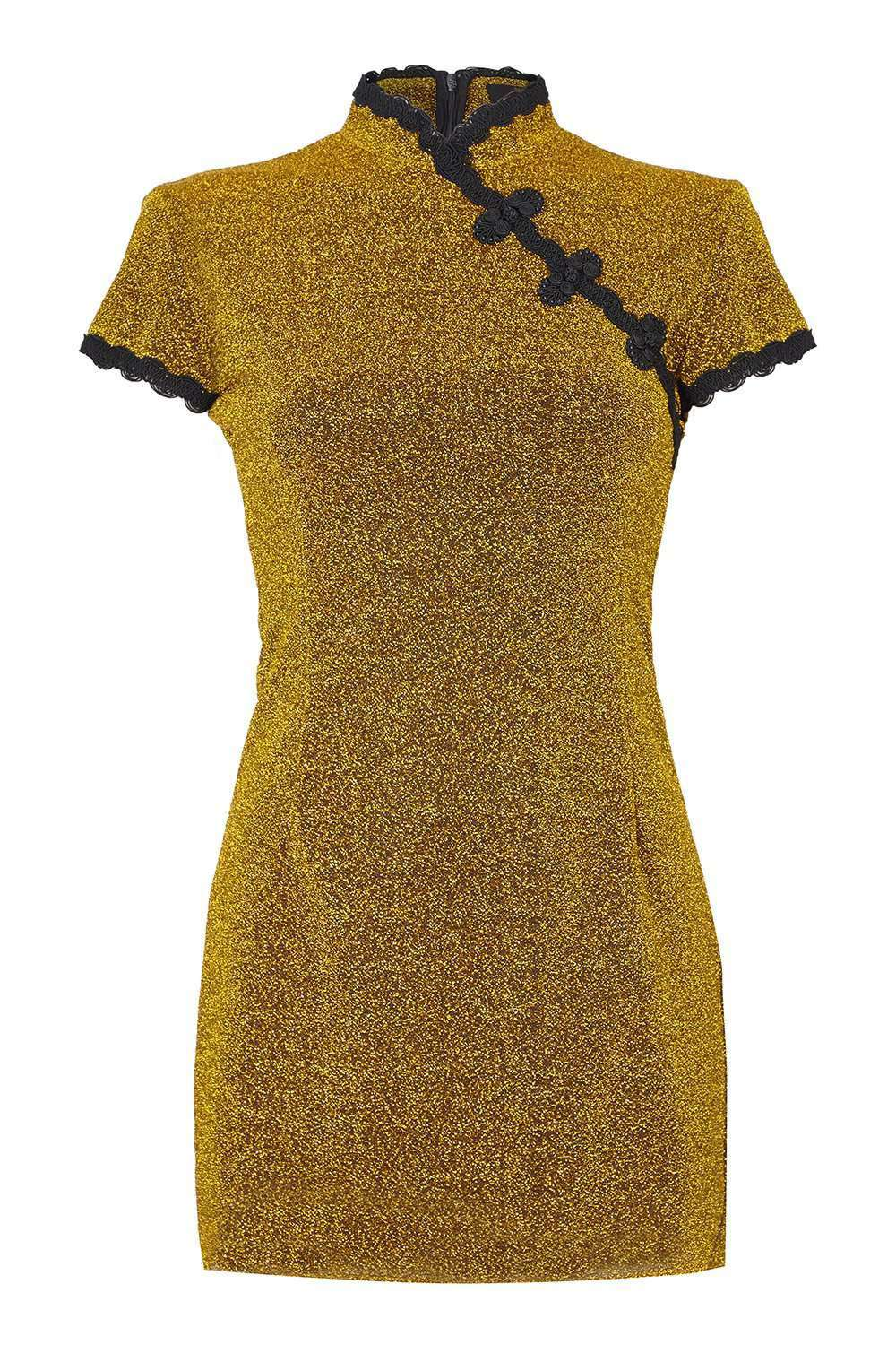 Suki Gold Lurex Dress