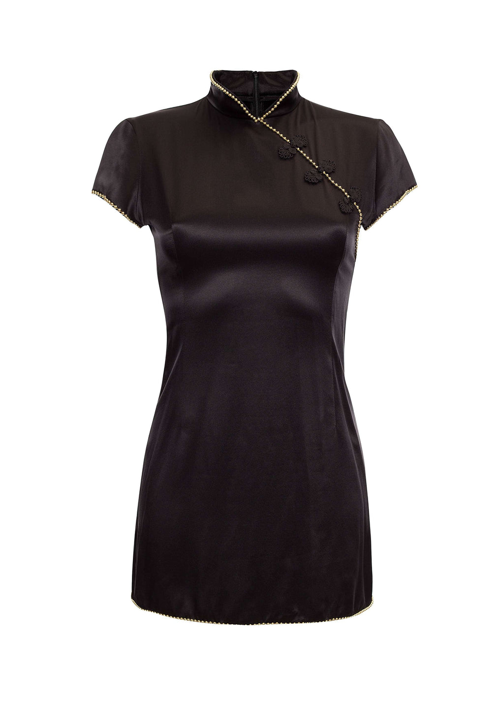 Suki Dress Black Satin
