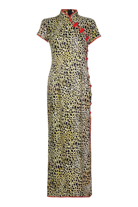 Suki Long Dress Leopard