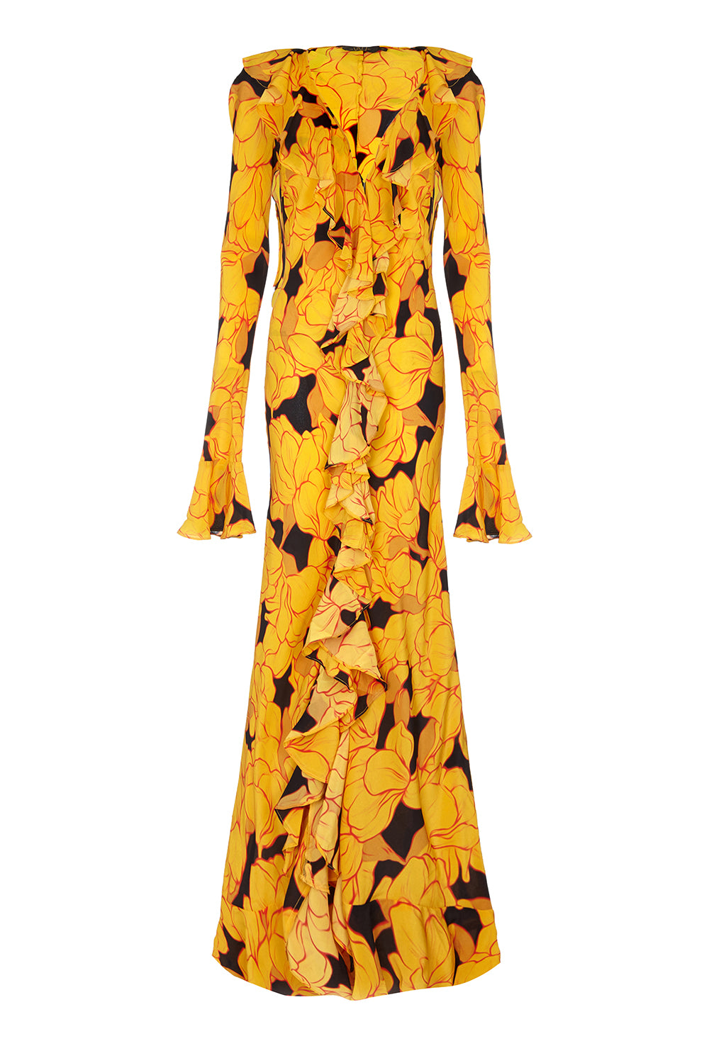 Tangerine Yellow Magnolia Dress