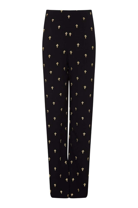 Uma Trousers Gold Cross