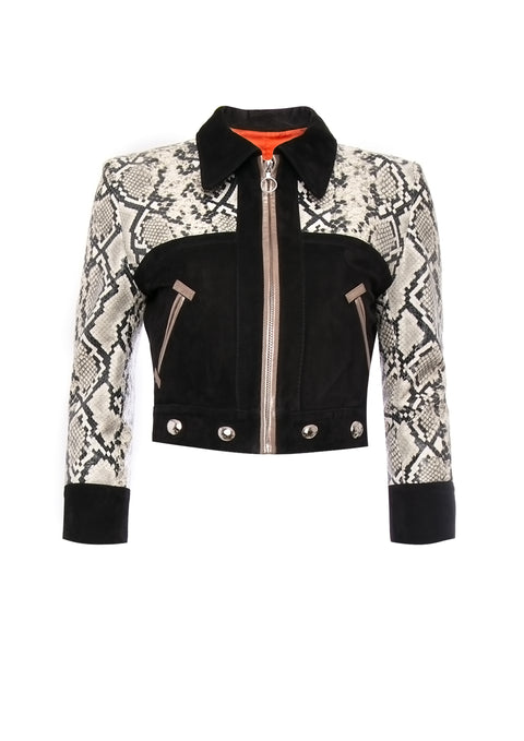 Vito Leather Jacket Silver