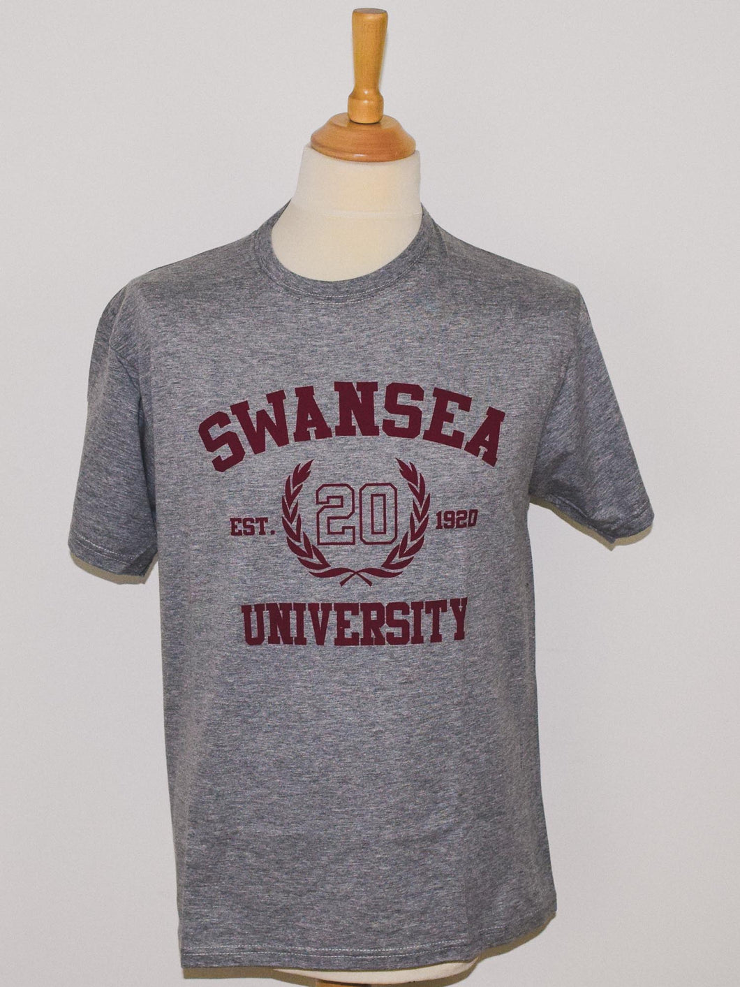 Swansea Laurel Tee Burgundy Design
