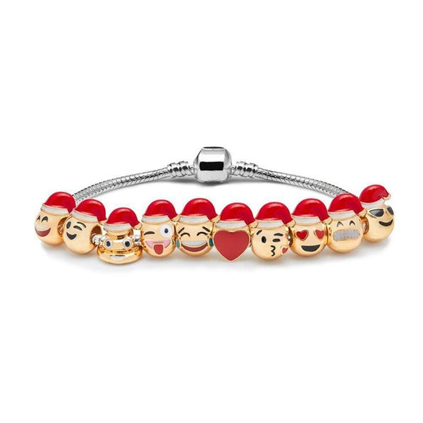 Bracelet  Charm Emoticon Santa