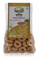 Organic Taralli with extra virgin olive oil and ajwain