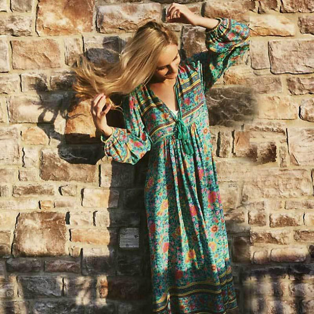 ALICIA Hippie Chic Dress-DRESSES-URBANYOO