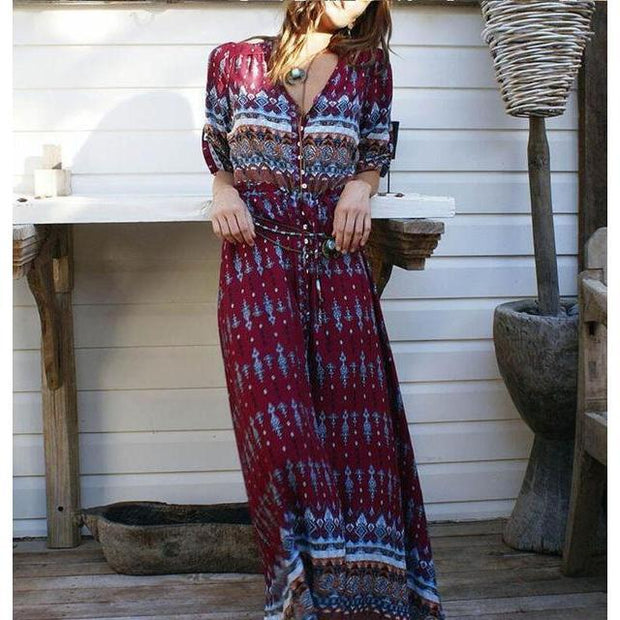 BOHEMIA Summer Maxi Dress-DRESSES-URBANYOO