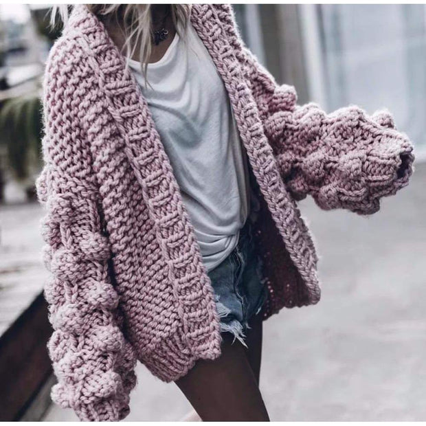 BUBBLE Oversized Cardigan-Cardigan-URBANYOO