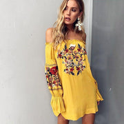 COACHELLA Print Dress-DRESSES-URBANYOO