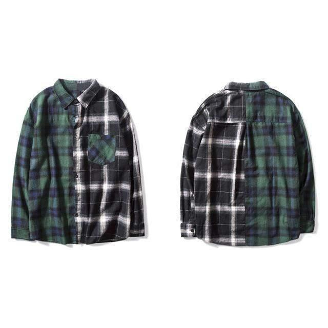 CONTRAST Flannel-Flannel-URBANYOO