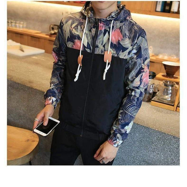 FLORAL Windbraker-JACKET-URBANYOO