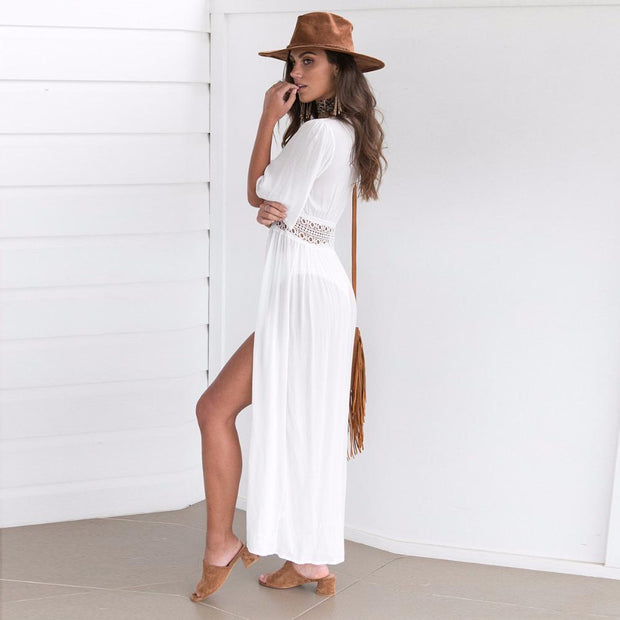 GRECIA White Cover Up-DRESSES-URBANYOO