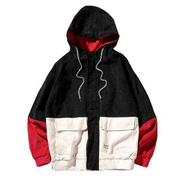 PATCHWORK Hooded Jacket-JACKET-URBANYOO
